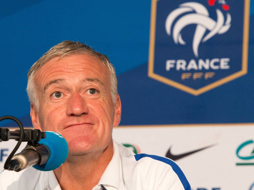 Frankreichs Trainer Didier Deschamps in Neustift im Stubaital