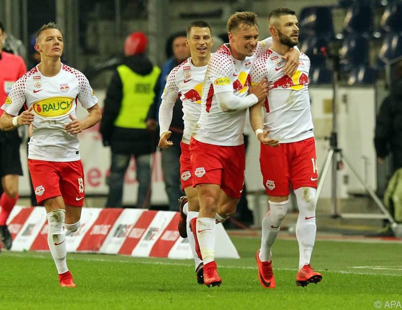 Die RB-Salzburg-Spieler wollen den Erfolgslauf fortsetzen