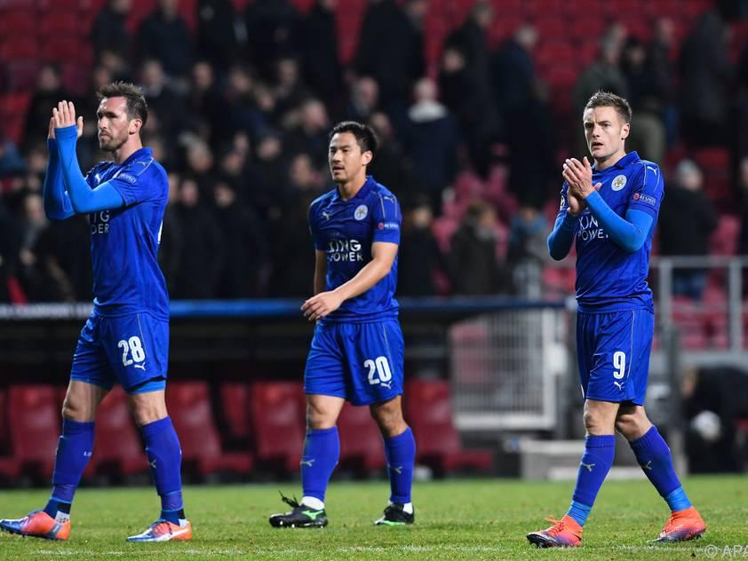 Christian Fuchs und seine Kollegen von Leicester City sind fast durch