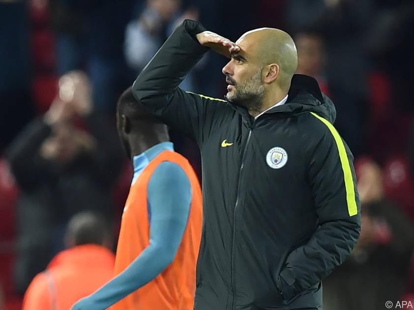 Guardiola will den Titelkampf nicht nur aus der Ferne betrachten müssen