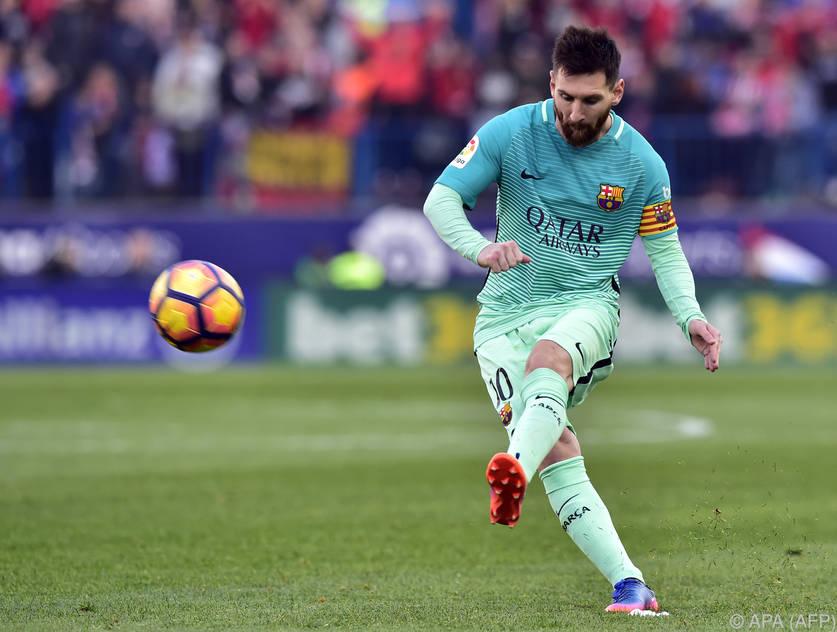Und wieder einmal war Messi Barças Rausreißer