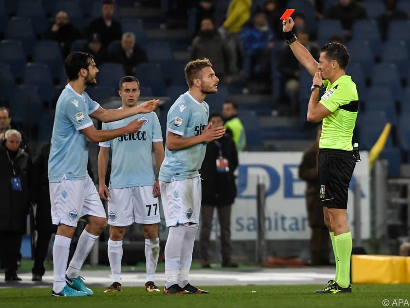 Die rote Karte für Immobile leitete Lazio-Niederlage ein