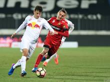 Salzburg kam über ein 1:1 bei der Admira nicht hinaus