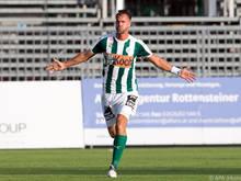 Stefan Maierhofer lässt den SV Mattersburg über drei Punkte jubeln