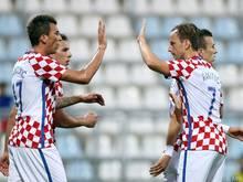 Eine Trainingseinheit für die Kroaten