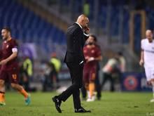 Roma-Coach Luciano Spalletti hatte eine anstrengende Schlussphase