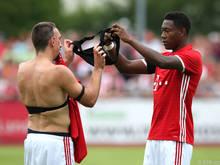 Zwischen Franck Ribéry und David Alaba rennt wieder der Schmäh