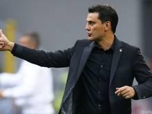 Milan-Trainer Vincenzo Montella kann mit dem Saisonstart zufrieden sein
