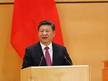 Parteichef Xi Jinping gilt als Förderer des Fußballs