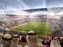 Grafik von Katar-Stadion: Wird die WM 2022 für Fans zum Campingurlaub?