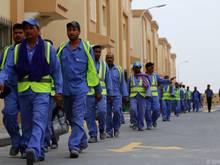 Immer wieder passieren Arbeitsunfälle in Katar, teils tödliche