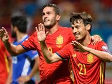 Acht Tore der Spanier gegen Liechtenstein