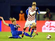 Die Kroaten behielten gegen Island vor leeren Rängen die Oberhand
