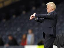 Schottland-Coach Gordon Strachan und seine Elf klare Außenseiter