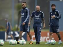 Sampaoli setzt auf Icardi (l.) und Messi, nicht auf Higuaín