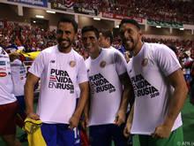 Die Freude ist groß beim Team von Costa Rica