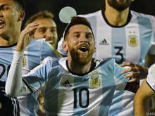 Alle drei Treffer Argentiniens gingen auf das Konto von Lionel Messi