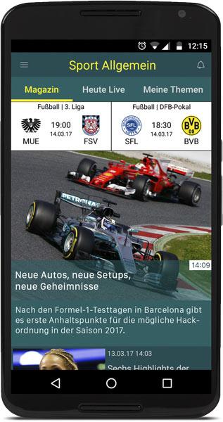 sport.de-App für Android