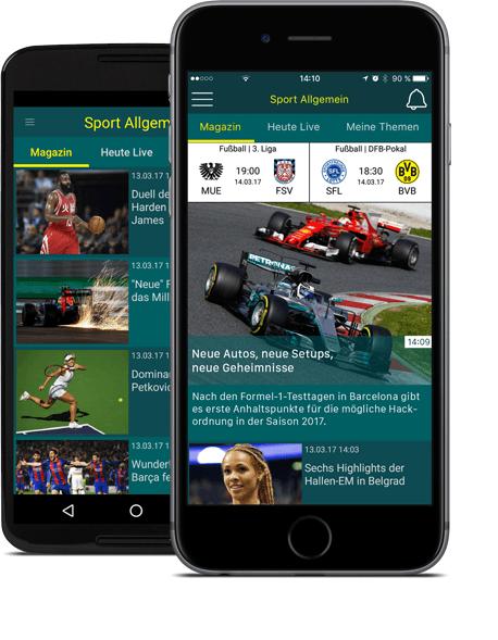 sport.de-App für iOS und Android