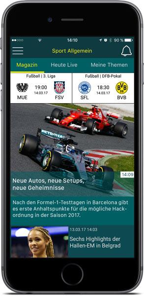 sport.de-App für iOS