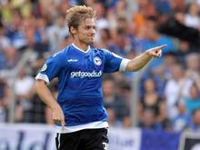 Sebastian Hille brachte mit seinem 1:0-Führungstreffer Bielefeld auf die Siegerstraße. Foto: Oliver Krato