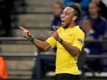 Dortmunds Pierre-Emerick Aubameyang schoss Gabun zum Sieg