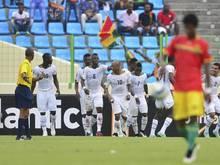 Ghana steht im Halbfinale des Afrika-Cups. Foto: Barry Aldworth