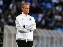 DFB-Trainer Christian Wück führte das Junioren-Team erfolgreich ins Finale