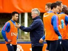 Bondscoach Guus Hiddink muss mit seinem Team einen Sieg holen