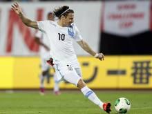 Diego Forlán spielt jetzt wieder in Uruguay
