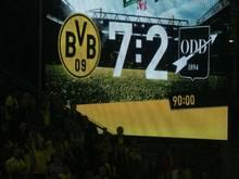 Auf der Dortmunder Anzeigetafel leuchteten einige Tore auf