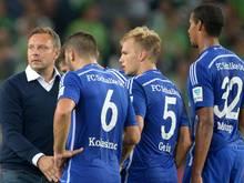 Schalkes Coach Breitenreiter war not amused