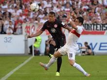 Frankfurts Timothy Chandler verletzte im Spiel gegen den VfB Stuttgart