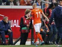 Arjen Robben musste gegen Island verletzt ausgewechselt werden