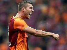 Lukas Podolski traf gegen Gaziantepspor zum zwischenzeitlichen 1:1