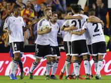 Valencias Spieler jubeln über den dritten Saisonerfolg