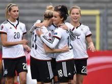 DiueDFB-Frauen bleibt in der EM-Qualifikation ohne Gegentor