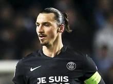 Stürmerstar Zlatan Ibrahimovic steuerte für Paris beim 3:0 gegen Nizza zwei Tore bei