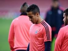 Thiago trainierte mit der Mannschaft vor der Reise nach Zagreb
