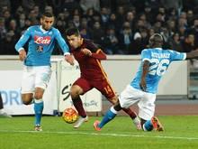 Das Spitzenspiel zwischen der AS Rom und dem SCC Neapel endete torlos