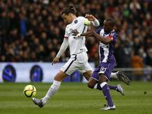 Superstar Zlatan Ibrahimovic (l.) erzielte für Paris den entscheidenden 1:0-Treffer gegen Toulouse