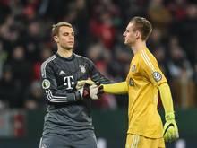 Konkurrenz nur in der Liga: Manuel Neuer (l.) und Bernd Leno