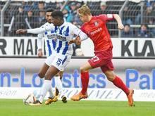 Karlsruhe und Frankfurt trennten sich 1:1. Foto: Uli Deck