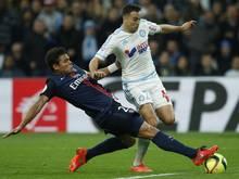 Auch Thiago Da Silva (l) sorgte mit seinem Einsatz für die Serie von Paris St. Germain