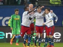 Der Hamburger SV besiegt Borussia Mönchengladbach mit 3:2