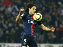 Edinson Cavani gewinnt mit Paris Saint Germain. Foto:Sebastien Nogier