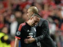 Pep Guardiola muss gegen Atlético Madrid womöglich auf Franck Ribéry verzichten