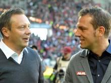 Markus Weinzierl (r.) könnte Nachfolger von André Breitenreiter bei den Schalkern werden