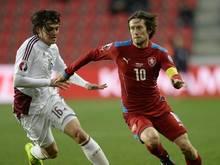 Tomáš Rosický könnte für Tschechien bei der EM spielen