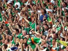 Die irischen Fans werden ihre zahlenmäßige Unterzahl durch Lautstärke ausgleichen